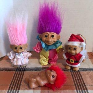 Vintage Russ trolls and one Dam troll